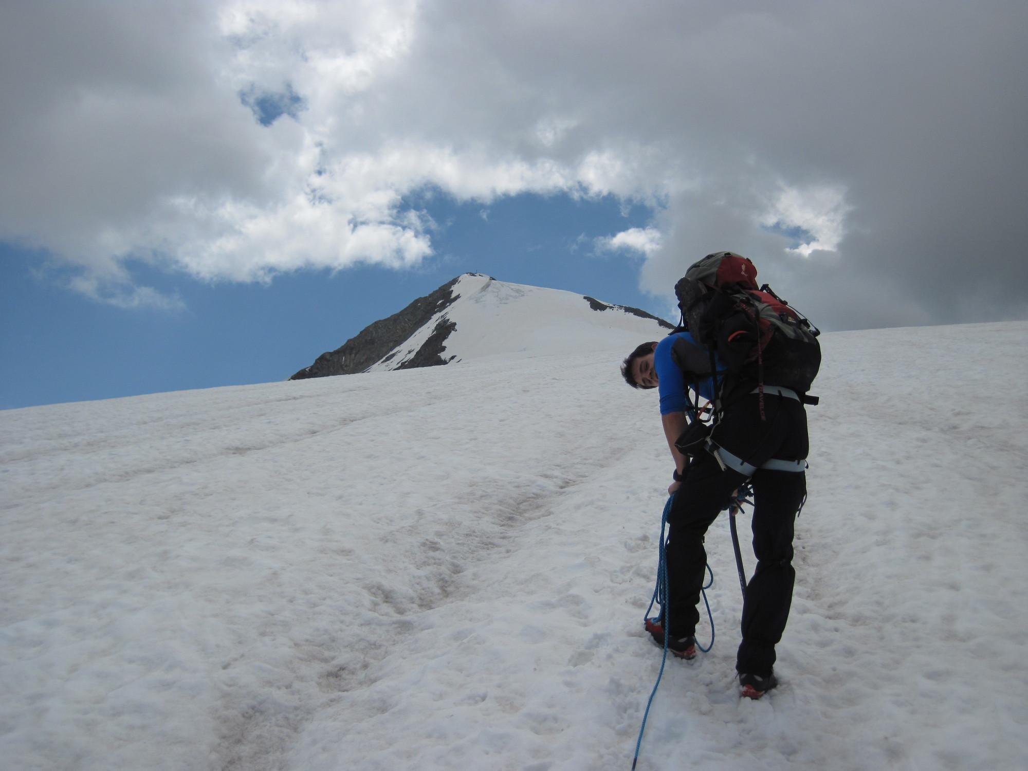 Az utolsó pár száz méter a gleccseren