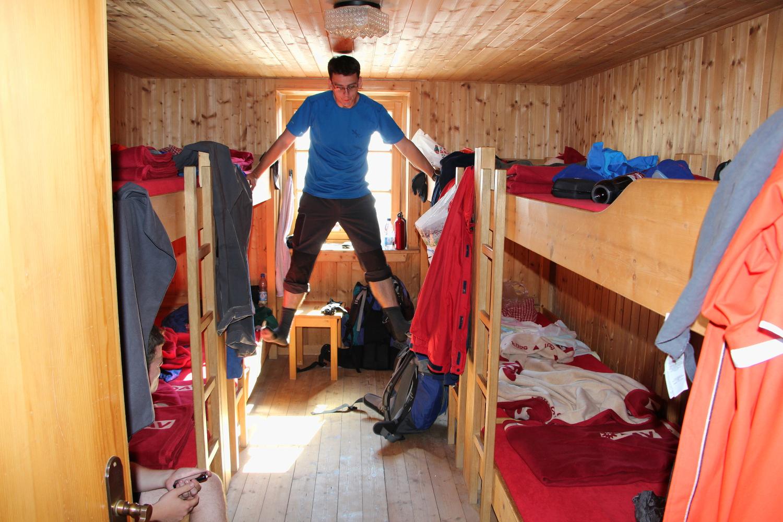 Neue Prager Hütte - 8 fős lágerban kaptunk helyet