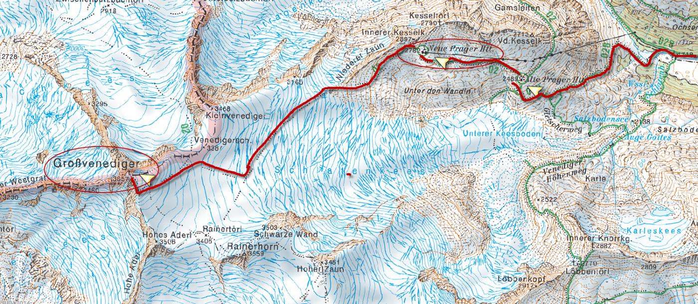 Grossvenediger térkép (Forrás: AMAP)