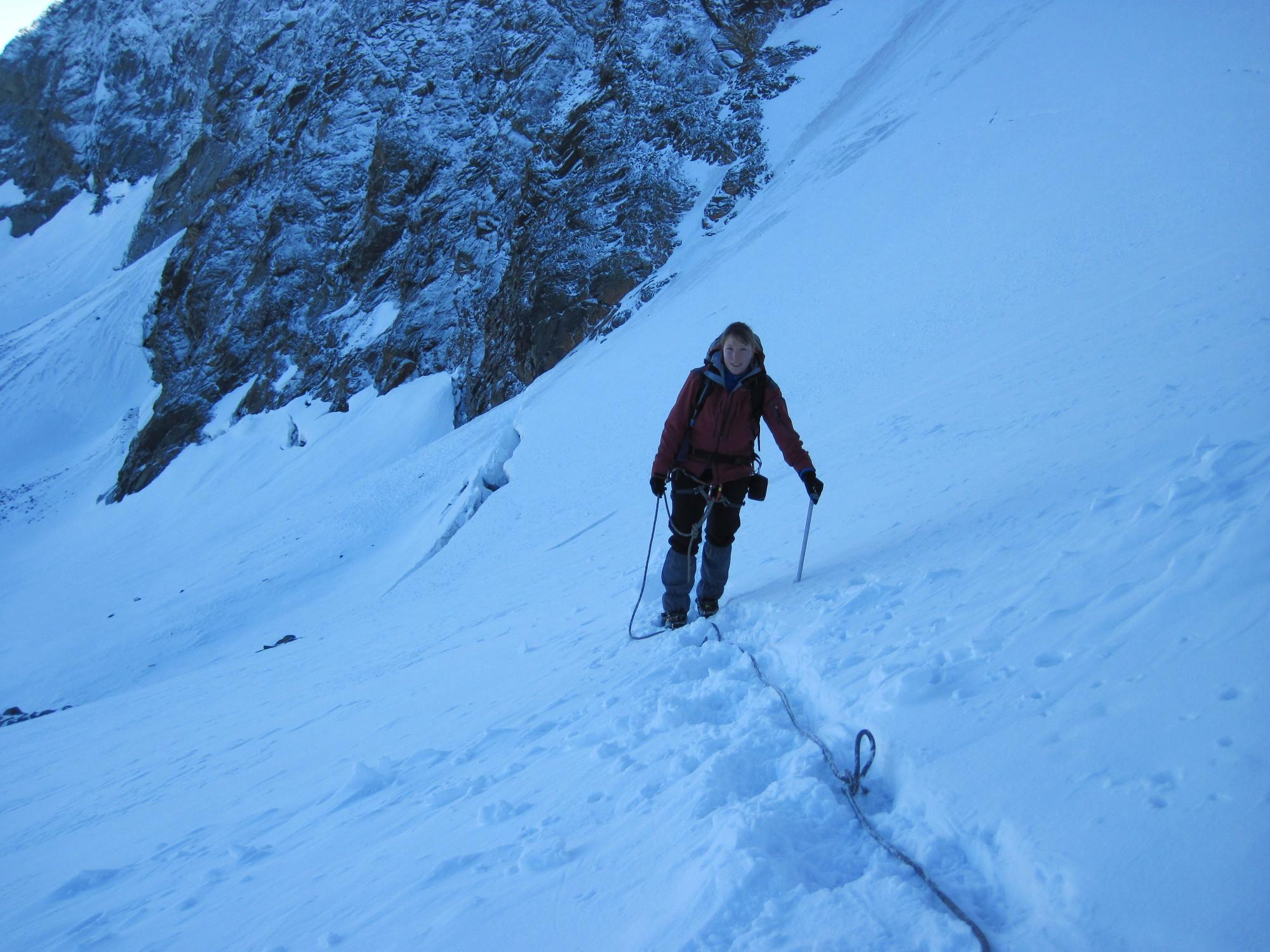 Úton a gleccseren