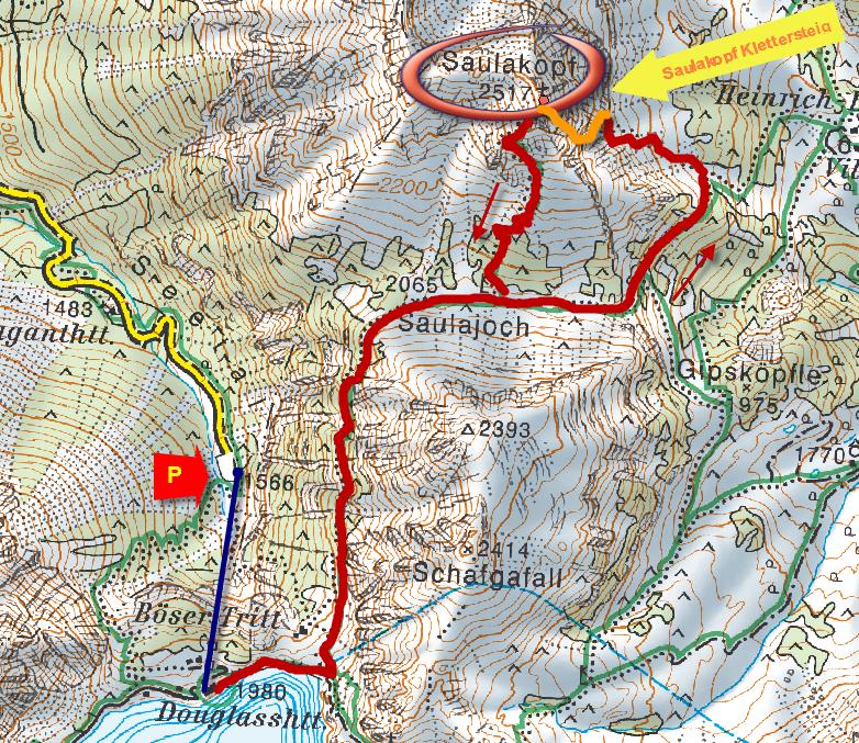 Saulakopf térkép Karte