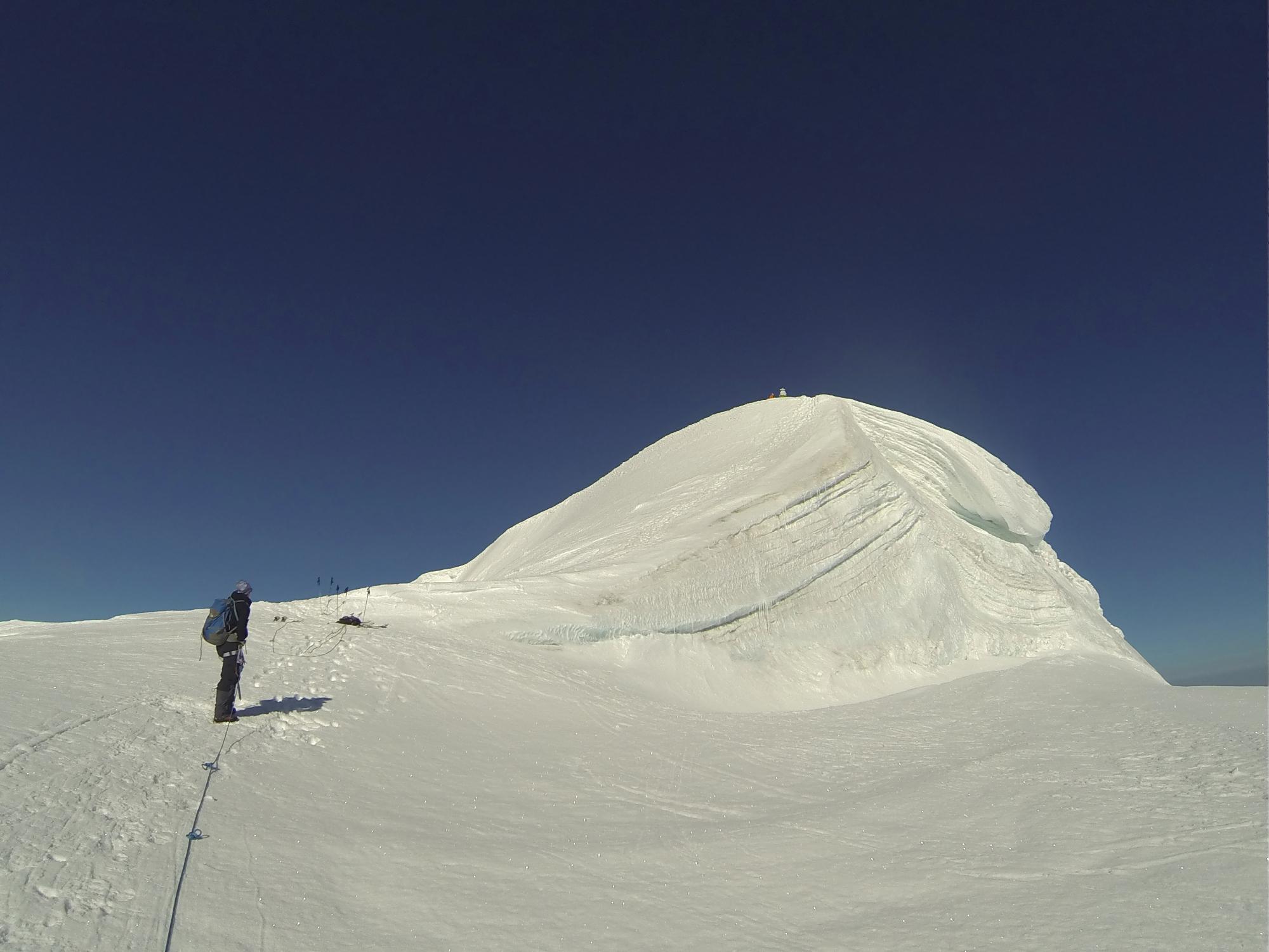 Bishorn Gipfel Peak 4153 m wechte 4000er
