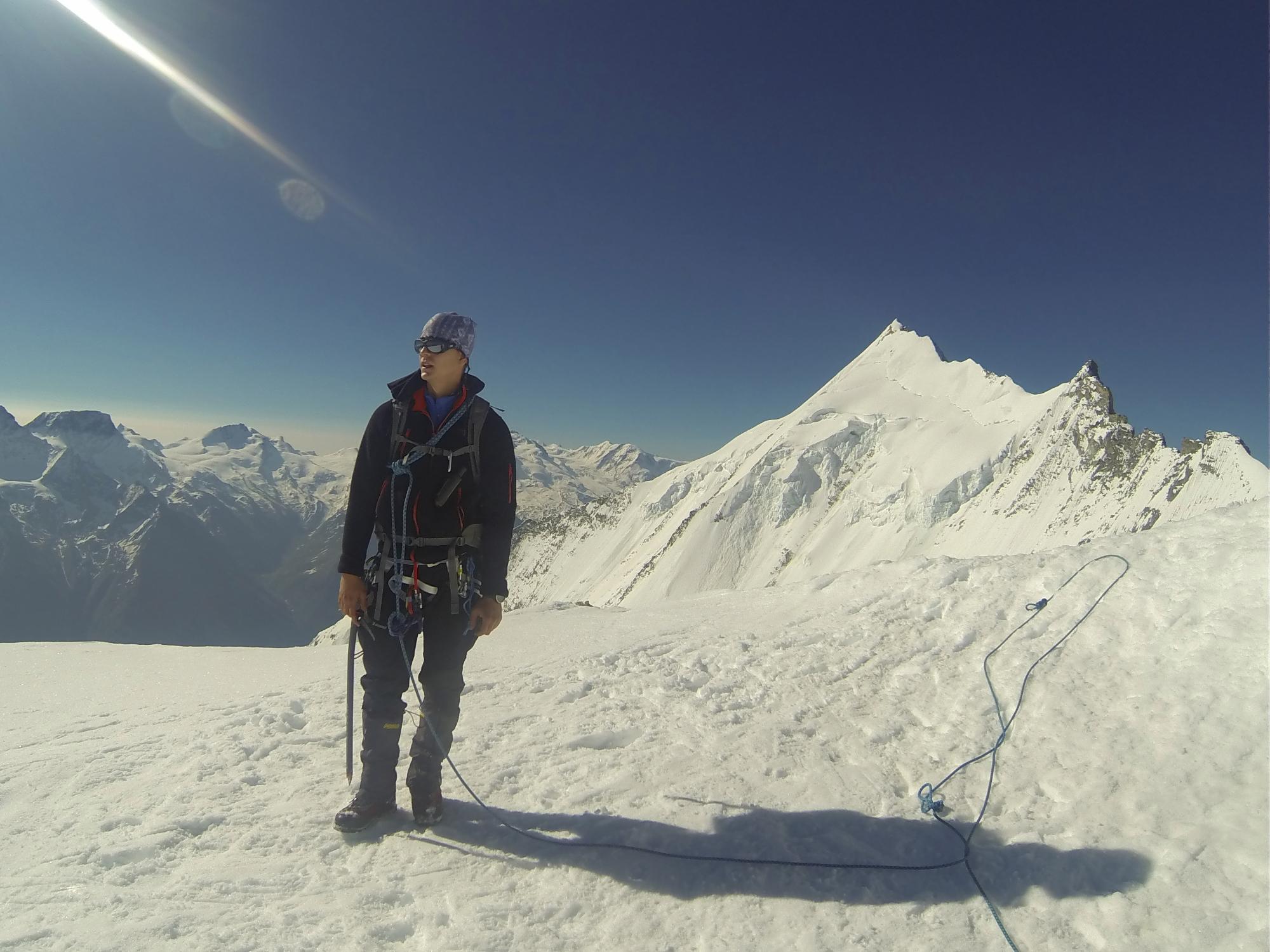 Bishorn Gipfel Peak 4153 m wechte 4000er weisshorn