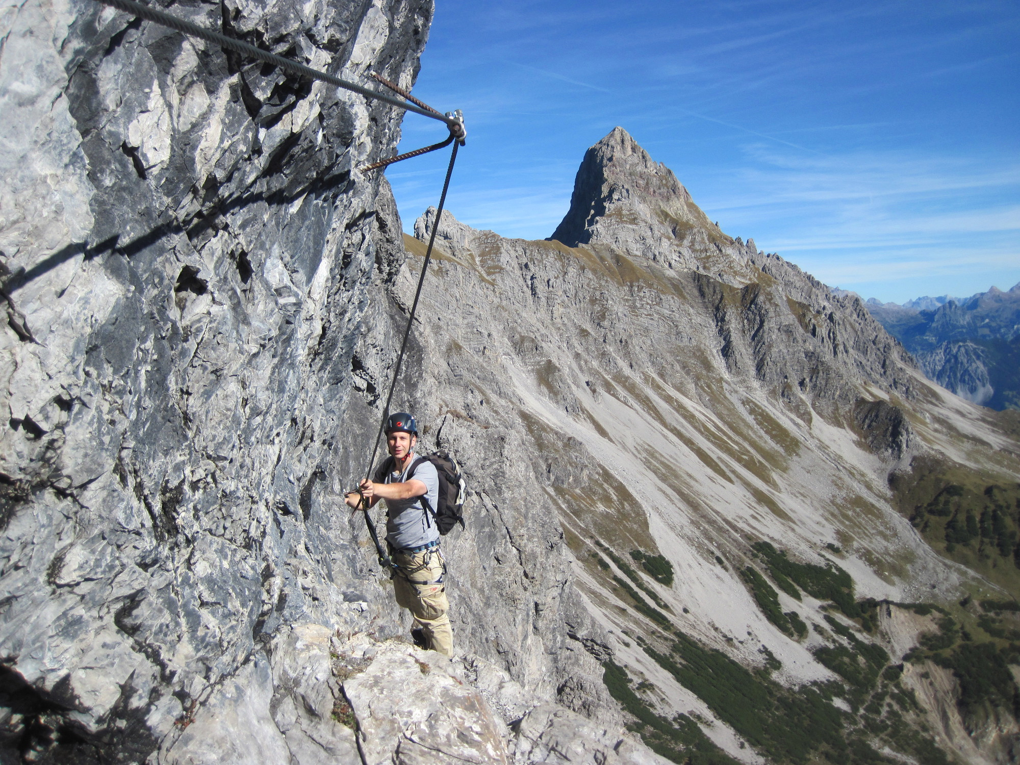 Klettersteig Saulakopf : Saulakopf klettersteig d e u errearra