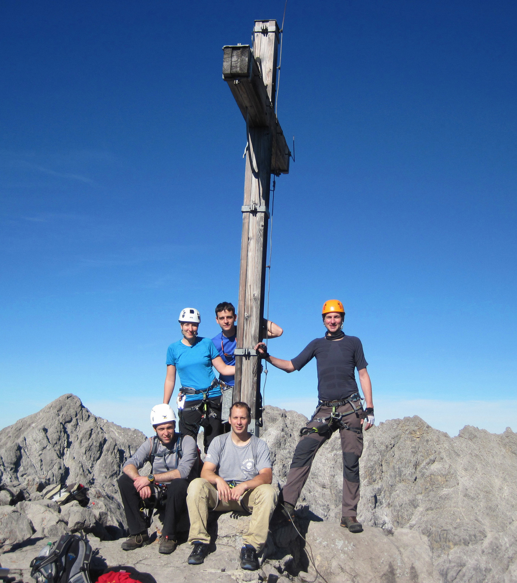 A csapat - Saulakopf 2517 m Saulakopf Klettersteig