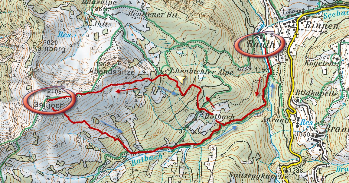Galtjoch térkép