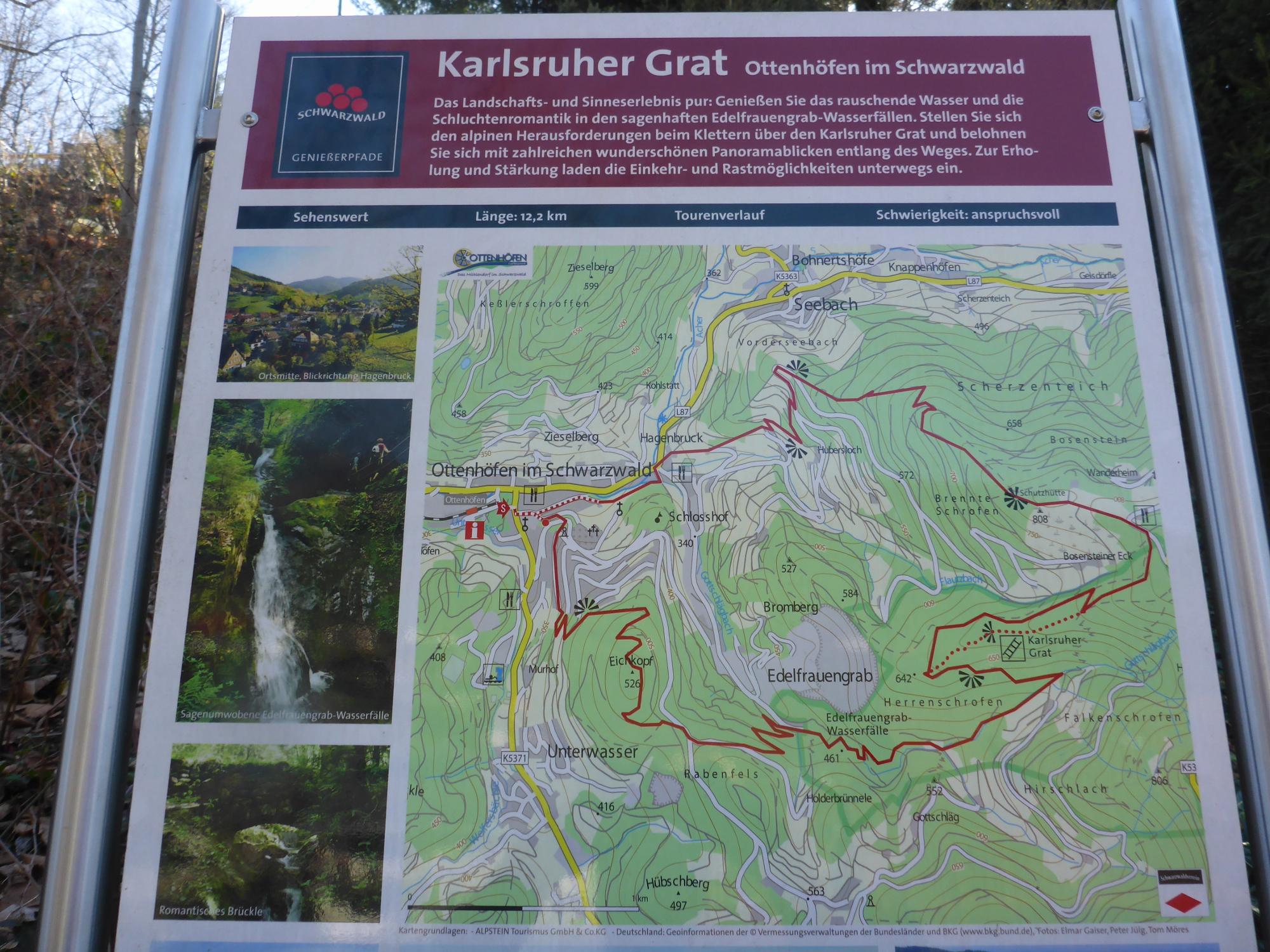 Karlsruher Grat Karte